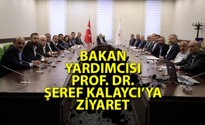 Bakan Yardımcısı Prof. Dr. Şeref Kalaycı'ya ziyaret