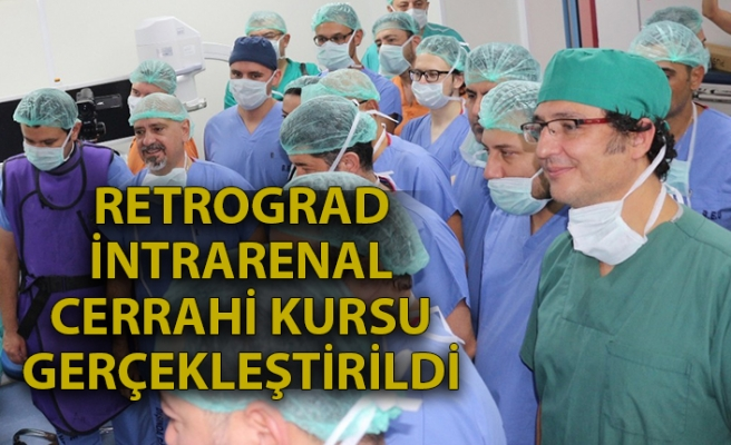 Retrograd İntrarenal cerrahi kursu gerçekleştirildi