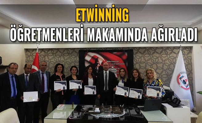 eTwinning kalite etiketi alan öğretmenleri makamında ağırladı