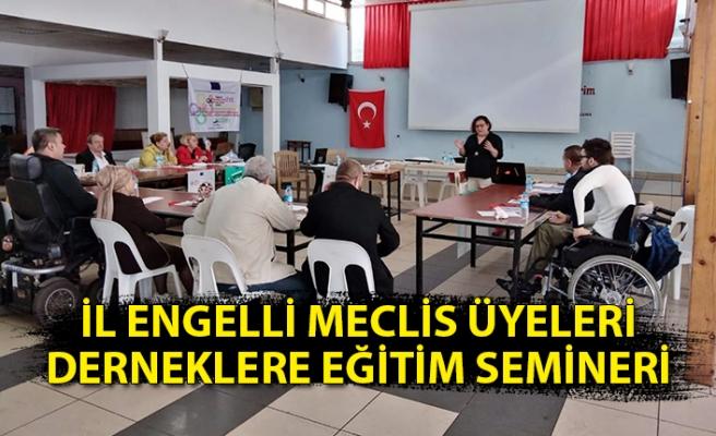 İl Engelli Meclis üyeleri derneklere eğitim semineri