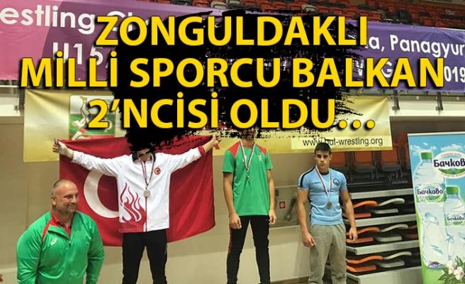 Zonguldaklı milli sporcu Balkan 2'ncisi oldu…