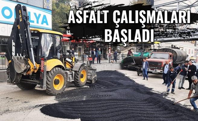 Gazipaşa Caddesi'nde Asfalt Çalışmaları Başladı