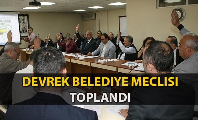 Devrek Belediye meclisi toplandı.