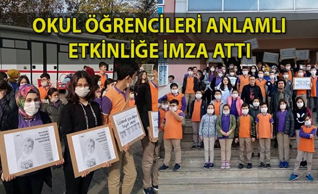 Okul öğrencileri anlamlı etkinliğe imza attı