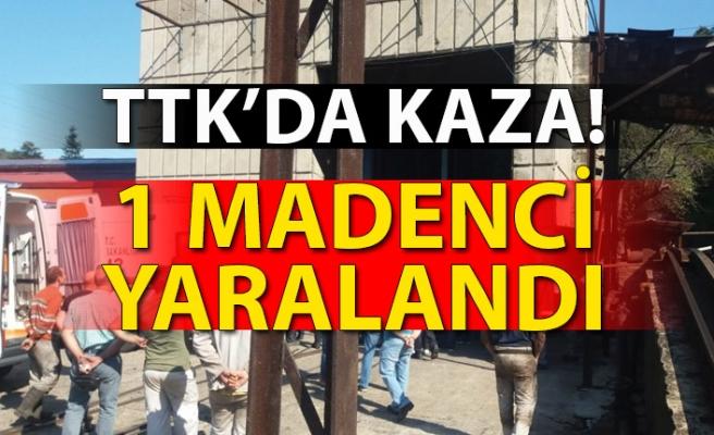 TTK'DA KAZA! 1 MADENCİ YARALANDI