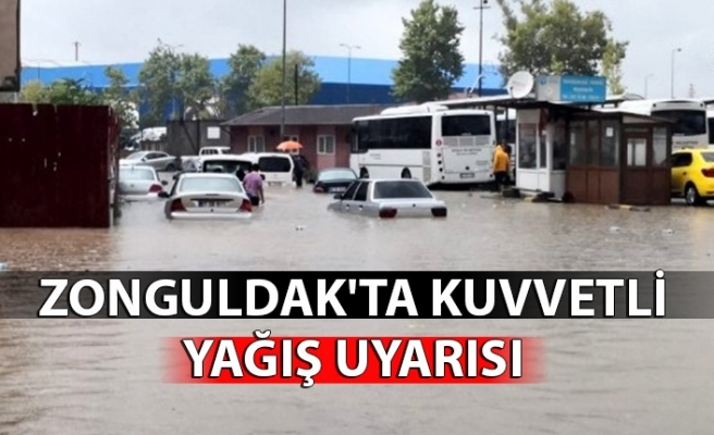 Zonguldak'ta kuvvetli yağış uyarısı