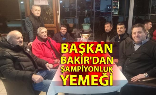 Başkan Bakır'da şampiyonluk yemeği