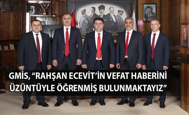"""GMİS, """"Rahşan Ecevit'in vefat haberini üzüntüyle öğrenmiş bulunmaktayız"""""""