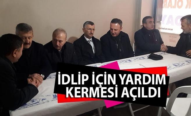 İdlip için yardım kermesi açıldı