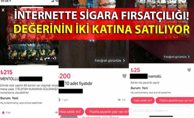 İnternette mentollü sigara fırsatçılığı! Değerinin iki katına satılıyor