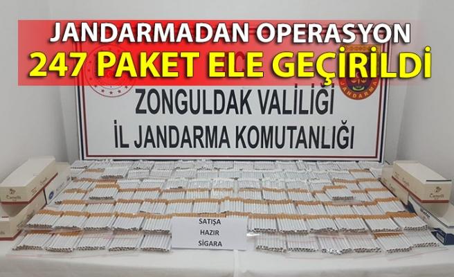Jandarmadan operasyon: 247 paket ele geçirildi