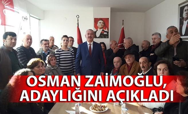 Osman Zaimoğlu, adaylığını açıkladı