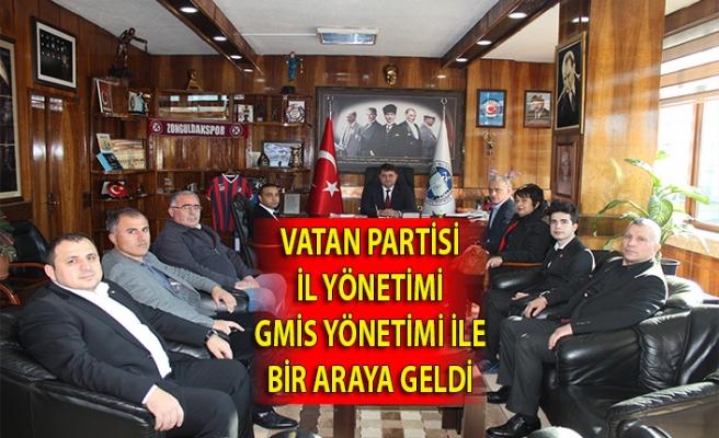 Vatan Partisi İl Yönetimi GMİS yönetimi ile bir araya geldi