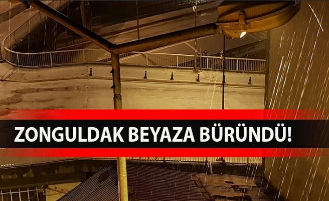 Zonguldak beyaza büründü!