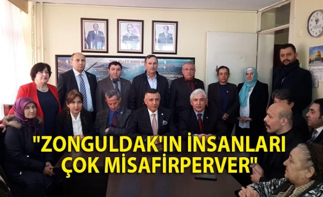 """""""Zonguldak'ın insanları çok misafirperver"""""""