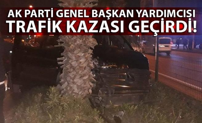AkParti Genel Başkan Yardımcısı trafik kazası geçirdi!