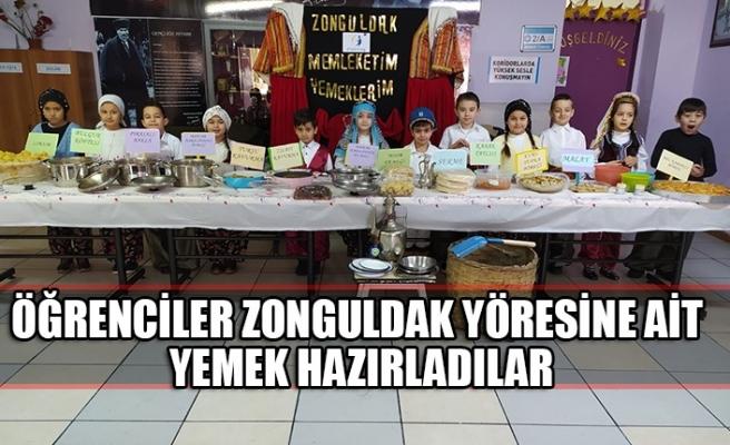 Öğrenciler Zonguldak yöresine ait yemek hazırladılar