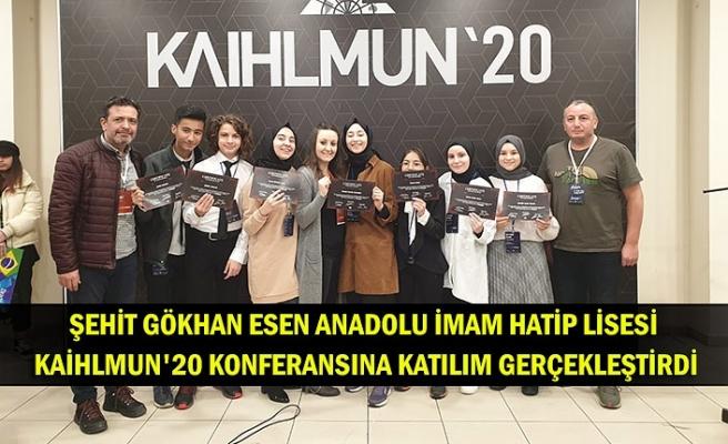 Şehit Gökhan Esen Anadolu İmam Hatip Lisesi KAİHLMUN'20 konferansına katılım gerçekleştirdi