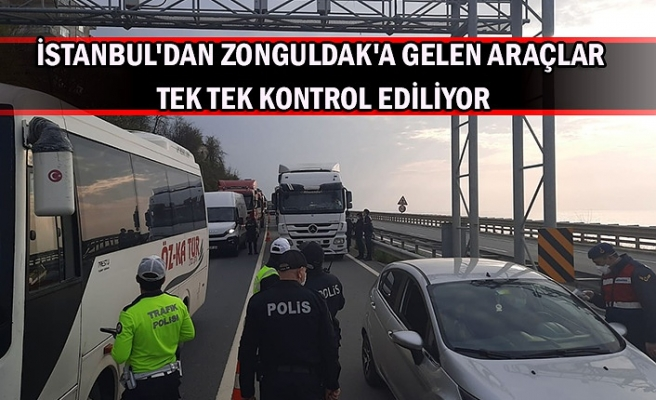 İstanbul'dan Zonguldak'a gelen araçlar tek tek kontrol ediliyor