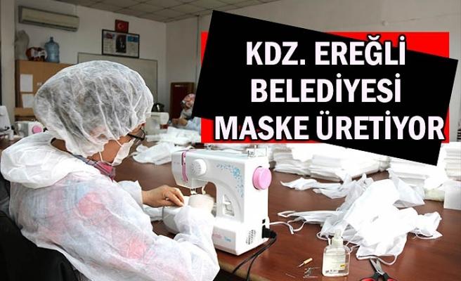 Kdz. Ereğli Belediyesi maske üretiyor