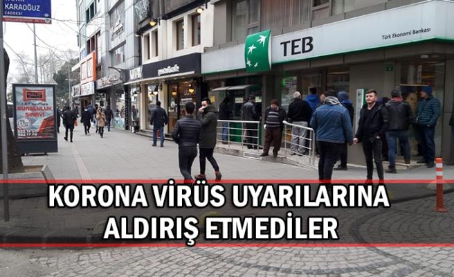 Korona virüs uyarılarına aldırış etmediler