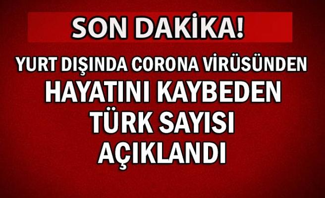 Yurt dışında corona virüsünden hayatını kaybeden Türk sayısı açıklandı