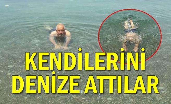 Kendilerini denize attılar