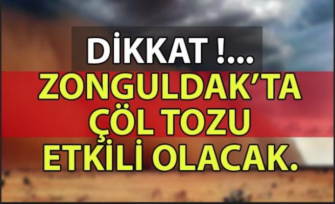 Sahra çölündeki tozlar Türkiye'ye doğru geliyor.