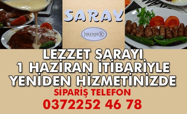 Saray Restorant hizmete başlıyor