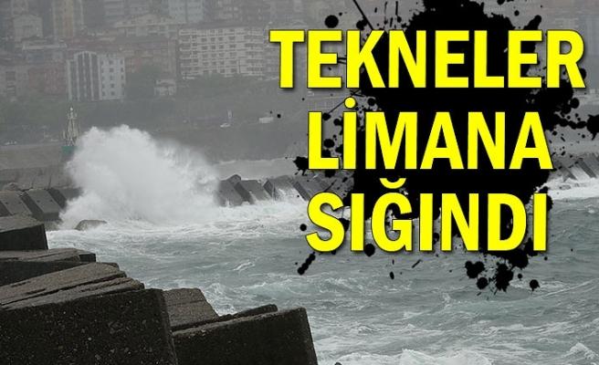 Zonguldak'ta şiddetli fırtına etkili oldu