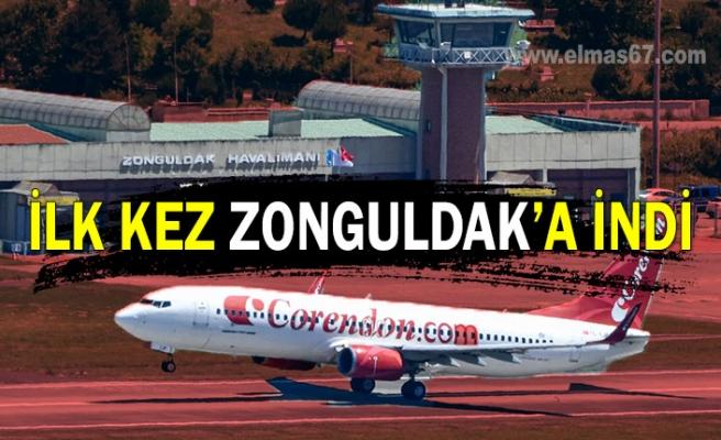 İlk kez Zonguldak'a indi