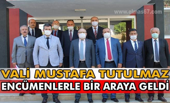 Vali Mustafa Tutulmaz  Encümenlerle bir araya geldi.