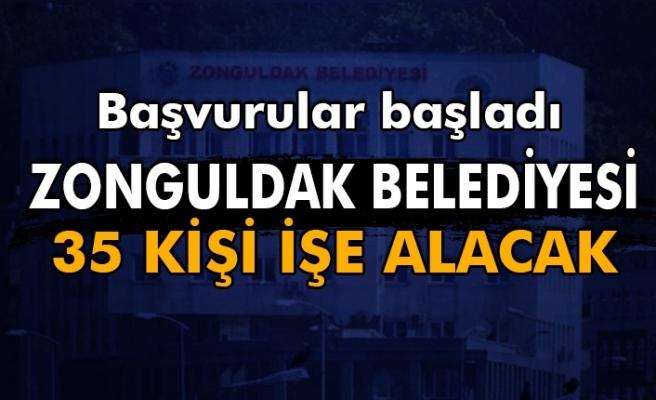 Başvurular başladı. Zonguldak Belediyesi 35 kişi işe alacak.