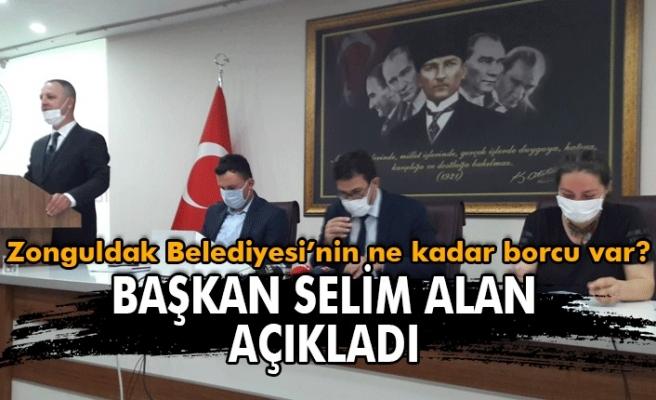 Zonguldak  Belediyesinin ne kadar borcu var ? Başkan Dr. Ömer Selim Alan açıkladı.