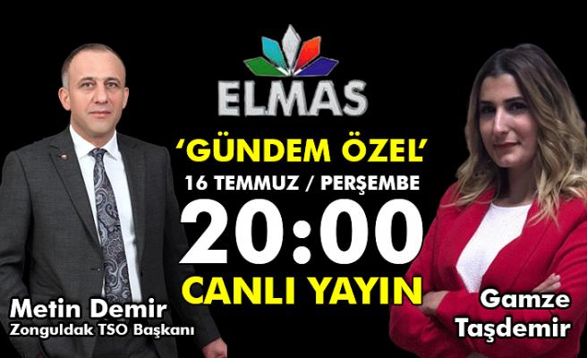 Zonguldak Ticaret ve Sanayi Odası Başkanı Metin Demir, canlı yayında soruları yanıtlayacak...