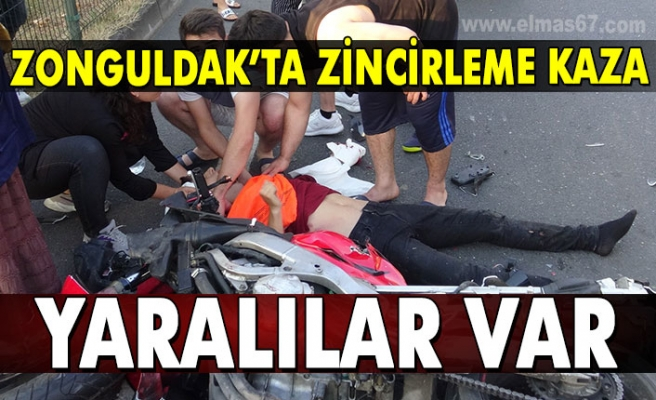 Zonguldak'ta zincirleme kaza: Yaralılar var!