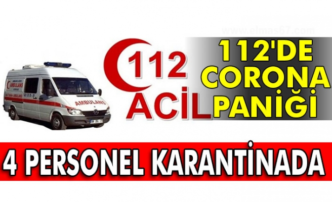 112'de Corona paniği. 4 Personel karantinada