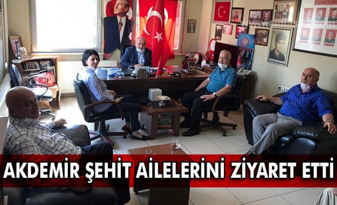 Akdemir Şehit ailelerini ziyaret etti