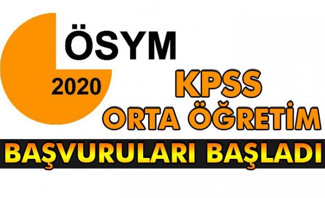 KPSS Orta öğretim başvuruları başladı