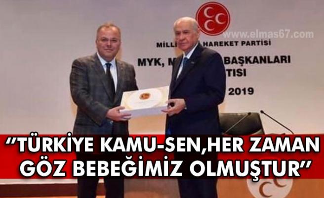 MHP MYK üyesi Kotra: ''Türkiye Kamu-Sen, her zaman  Göz bebeğimiz olmuştur''