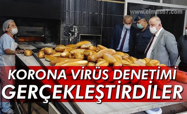 Kaymakam Subaşı korona virüs denetimi gerçekleştirdi