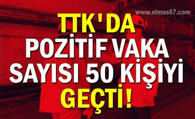 TTK'da pozitif vaka sayısı 50 kişiyi geçti!