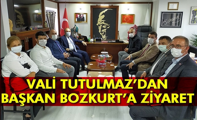 VALİ TUTULMAZ'DAN BAŞKAN BOZKURT'A ZİYARET
