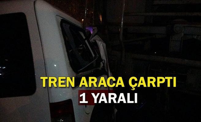 Zonguldak'ta hemzemin geçitte tren araca çarptı: 1 yaralı
