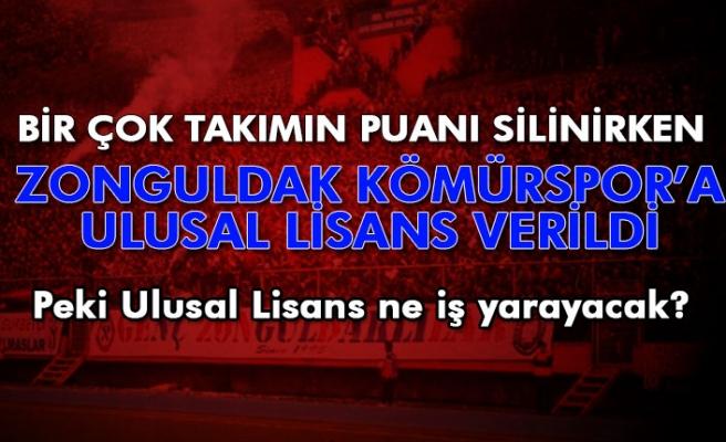 Zonguldak Kömürspor Ulusal Lisans aldı