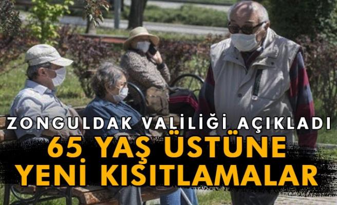 Zonguldak'ta 65 yaş üstüne yeni kısıtlamalar getirildi