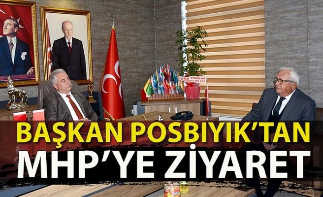 Başkan Posbıyık' tan mhp' ye ziyaret