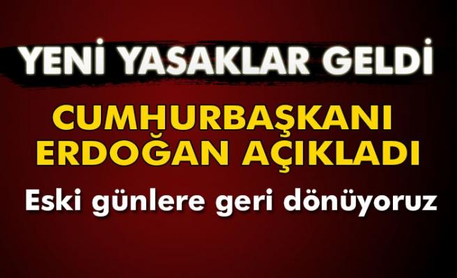 Cumhurbaşkanı Erdoğan, yeni corona virüsü tedbirlerini açıkladı.