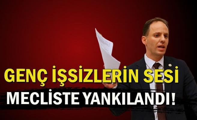 GENÇ İŞSİZLERİN SESİ MECLİSTE YANKILANDI!