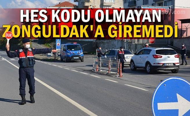HES kodu olmayan Zonguldak'a giremedi